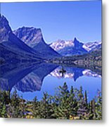 St Mary Lake Glacier National Park Mt Metal Print