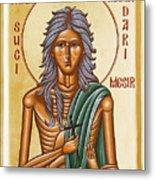 St Mary Of Egypt  Metal Print by Julia Bridget Hayes
