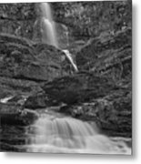 St Mary Triple Cascades - Black And White Metal Print