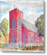 St. Mary's Catholic Church, Oneonta, Ny Metal Print