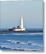 St Mary's Lighthouse Whitley Bay Metal Print