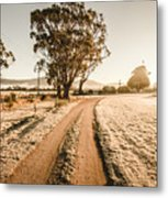 St Marys Winter Country Road Metal Print