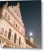 St. Michael, Lady And Moon Metal Print