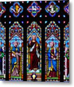 St. Michael's Parish Stained Glass Metal Print