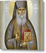 St Nektarios Of Aigina Metal Print by Julia Bridget Hayes