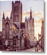 St. Nicholas Church, Gent Metal Print