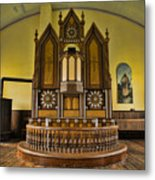 St Olafs Kirke Pulpit Metal Print