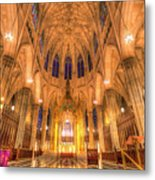 St Patrick's Cathedral Manhattan New York Metal Print