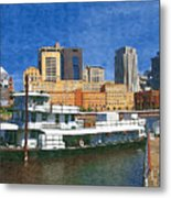 St Paul On The Mississippi Metal Print