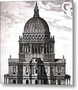 St. Pauls Drawn By Christopher Wren Metal Print