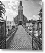 Church And Gravemarkers Metal Print