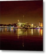 St Petersburg, Fl, Skyline At Night Metal Print