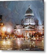 St. Petersburg.isaac Square Metal Print