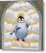 St Pinguin Bringer Of Fish Metal Print