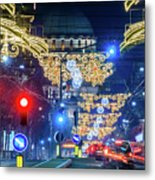 St. Sava Temple In Belgrade Playing Hide And Seek With The Christmas Decorations Metal Print