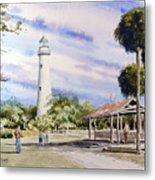 St. Simons Island Lighthouse Metal Print