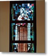 St. Theresa Stained Glass Window Metal Print