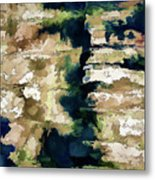 St Thomas - Brick Wall Shadow Metal Print