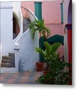 St. Thomas Courtyard Metal Print