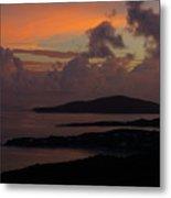 St Thomas Sunset At The U.s. Virgin Islands Metal Print