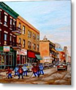 St. Viateur Bagel Hockey Game Metal Print