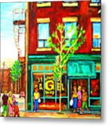 St. Viateur Bagel With Shoppers Metal Print