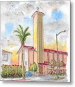 St. Victor's Catholic Church, West Hollywood, Ca Metal Print