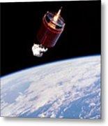 Stabilizing Spacecraft Metal Print