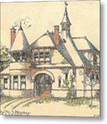 Stable For Mr. M. S. Hershey Lancaster Pennsylvania 1891 Metal Print