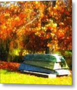 Stack Of Boats Metal Print by Kathy Jennings