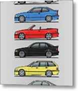 Stack Of E36 Variants Metal Print