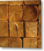 Stack Of Logs Metal Print