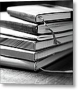 Stack Of Notebooks Metal Print