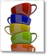 Stacked Cups Metal Print