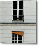 Stacked French Windows Metal Print