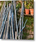 Stacked Wood Metal Print