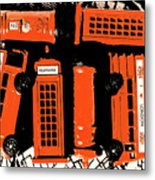 Stacking The Double Deckers Metal Print