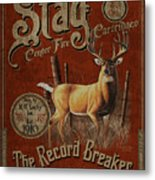 Stag Record Breaker Sign Metal Print