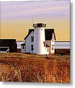 Stage Harbor Lighthouse Chatham Metal Print
