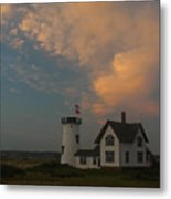 Stage Harbor Lighthouse Metal Print by Juergen Roth