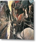 Stagecoach Robbers Metal Print