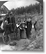 Stagecoach Robbery, 1911 Metal Print
