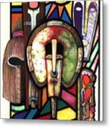 Stain Glass Metal Print by Anthony Burks Sr