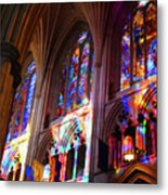 Stain Glass Cathedral Metal Print