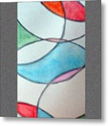 Stain Glass Metal Print