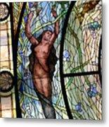 Stain Glass Set 3 - Bath House - Hot Springs, Ar Metal Print