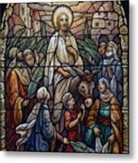 Stained Glass - Palm Sunday Metal Print