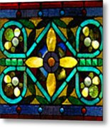 Stained Glass 1 Metal Print