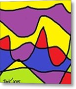 Stained Glass Abstract Metal Print