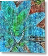 Stained Glass Agave Two  Metal Print